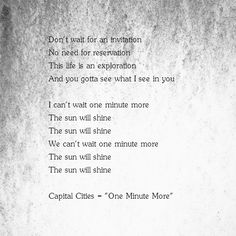 """Capital City - """"One Minute More"""""""