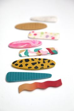 How to Make Polymer Clay Hair Barrettes with the Silhouette Curio - The Pretty Life Girls Sculpey Clay, Polymer Clay Projects, Silhouette Curio, Diy Clay Earrings, Polymer Clay Jewelry, Clay Beads, Clay Art For Kids, Biscuit, Clay Design