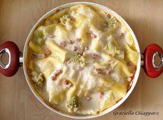 Lasagne in padella con broccoli e prosciutto | Ricetta Ebbene si! Si è rotto il forno! In attesa di comprarne uno nuovo si fa quel che si può... e avendo d