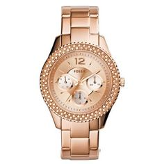 Fossil® Women's Stella Rose Goldtone Stainless Steel Bracelet Watch with Tonal Dial Stainless Steel Watch, Stainless Steel Bracelet, Gold Models, Fossil Watches, Women's Watches, Gold Watches, Wrist Watches, Diamond Watches, Ladies Watches