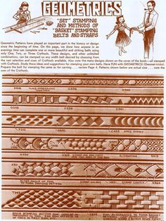oak leaf leather carving patterns