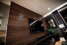 Dark Wood Slate Wall Design In Living Room Ideas: Extraordinary Wood Slat Wall Design Ideas. Wood Slat Wall, Wooden Slats, Diy Window Tint, Interior Exterior, Interior Design, Wall Exterior, Bedroom Wall Designs, Fireplace Wall, Wall Fireplaces