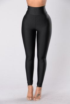 - Available in Black - Great Stretch - Tight Fit - High Waist - Made in USA - 80% Nylon 20% Spandex