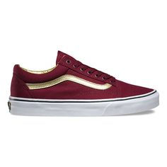 50th anniversary Vans for kids: Old Skool red + gold