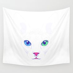 Cute sphynx cat Wall Tapestry by Oh Wow!