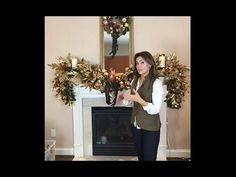 Decorating for Christmas with Lisa Robertson : The Living Room Mantel - YouTube