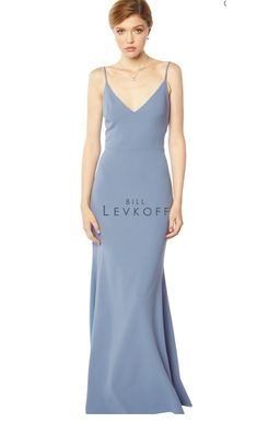 Bill Levkoff Bridesmaid Dresses, Romantic Bridesmaid Dresses, Bill Levkoff Dresses, Bridesmaid Dress Styles, Bridesmaids, Amsale Bridesmaid, Designer Bridesmaid Dresses, Mermaid Skirt, Satin Gown