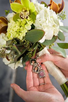 Flower Bouquet Charm Wedding Bouquet Memorial Photo Charm Bouquet