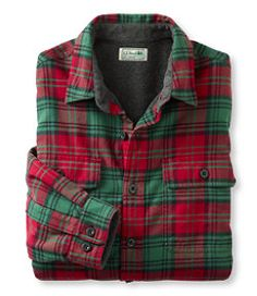 #LLBean: Fleece-Lined Flannel Shirt, Traditional Fit