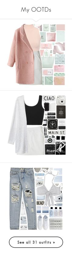 """""""My OOTDs"""" by stelbell ❤ liked on Polyvore featuring Merona, själ, Simmons, Starskin, JAG Zoeppritz, Forever 21, Sarah's Bag, Mamonde, Laura Mercier and Accessorize"""