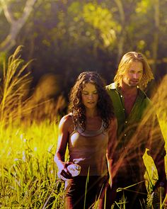 Sawyer (Josh Holloway) & Kate (Evangeline Lilly) from LOST.