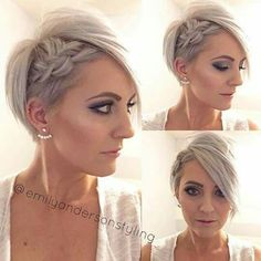 Absolutely love this look for our #mgbrides with short hair! #repin #love #makeup #shorthair #love