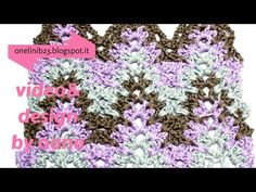 """crochet chevron stitch pattern - YouTube Amish ripple, a good tutorial, but I don't like the way she does the 'valleys"""", not the same as the pattern, which changes the look that I like."""