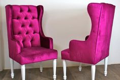 fuschia. I had chairs this color in college but this look is much cooler.