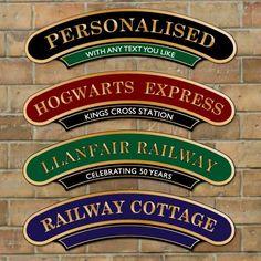 Vintage Train Station Sign