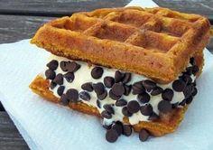 Ice cream waffle sandwich? Yes please!