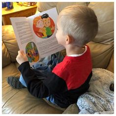 Kaiden from Havre De Grace, Maryland reading his Oh No..... PCSing book #militarychildren #ohnopcsing
