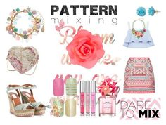 """""""Pink Pattern !!"""" by tabbykid-1 ❤ liked on Polyvore featuring Accessorize, New Look, Valentino, Cobra & Bellamy, Marc Jacobs, Victoria's Secret and patternmixing"""