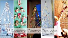 Alternative Christmas Tree Ideas… like the branches & card display