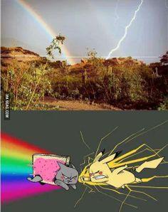 Pikachu vs Nyan Cat