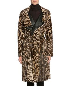Leopard-Print Fur Wrap Coat, Dark Brown/Beige by TOM FORD at Bergdorf Goodman.