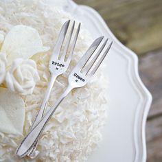 Are You Interested In Our Personalised Silver Wedding Spoon For Home With Engagement Cake Fork Set Need Look No Further