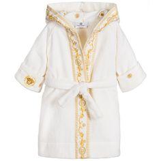 0ffab4cd5 Ivory & Gold Cotton Towelling Baby Bathrobe. Versace Baby ClothesNewborn  OutfitsNewborn FashionBoy ...