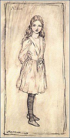File:Alice in Wonderland by Arthur Rackham - 01 - Alice (frontispiece).jpg