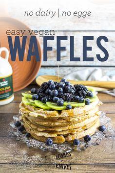 easy vegan waffles | boardsandknives.com