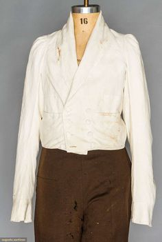 Man's White Roundabout/spencer Jacket, 1820s, Augusta Auctions, November 11, 2015 NYC