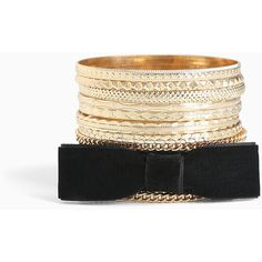 Torrid Velvet Bow Bangle Set ($23) ❤ liked on Polyvore featuring jewelry, bracelets, gold, hinged bracelet, cuff bangle, bow bangle bracelet, bangle set and hinged cuff bracelet