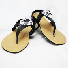 Women's Flat Sandal - Flip flops - Large Size women's shoes. Fancy shoes. www.fancyshoeland.com