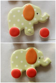 Decorated Elephant Cookies and a Virtual Baby Shower