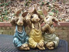 Beautiful Chrisdon Rabbits See No Evil Hear No Evil Speak No Evil