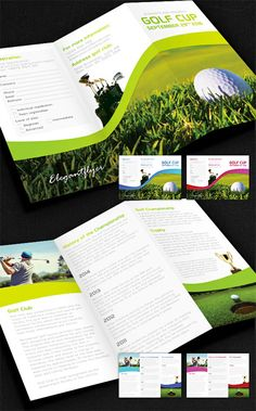 Golf Tournament Tri Fold Brochure Template Design   branding ideas ...