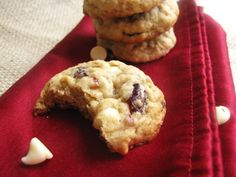 Cranberry White Chocolate Oatmeal Cookies