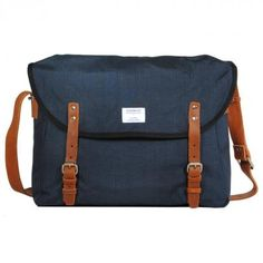 """Erik (blue)  is a messenger bag from the swedish label """"sandqvist"""" and fits a 15"""" notebook"""