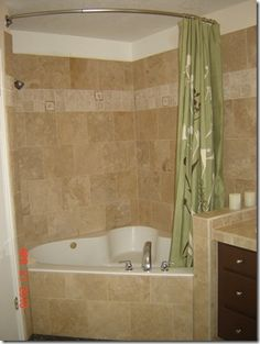 Jacuzzi Corner Tub Shower Combo Walk in Shower and Jacuzzi Tub