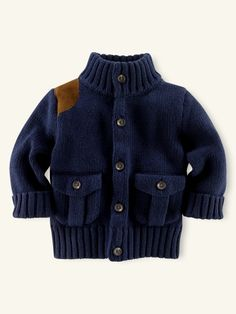 Love the look: Every baby needs an authentic equestrian riding cardigan $65 Ralph Lauren