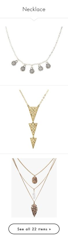 """""""Necklace"""" by maryemmanuel on Polyvore featuring jewelry, necklaces, women's jewellery, cluster necklace, silver chain jewelry, pilgrim necklace, silver charms, chain necklace, accessories and colar"""
