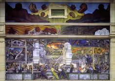 Diego Rivera Mural at the Detroit Institute of Art.  Awe-inspiring in person