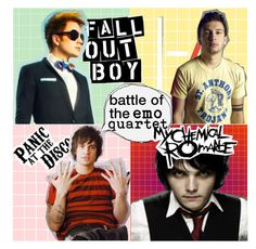 """""""SHOUTOUT TO BATTLE OF THE EMO QUARTET"""" by explosive-awesomeness ❤ liked on Polyvore featuring art"""