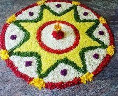 Rangoli Designs Flower, Colorful Rangoli Designs, Rangoli Designs Diwali, Rangoli Designs Images, Diwali Rangoli, Flower Rangoli, Beautiful Rangoli Designs, Flower Mandala, Flower Designs