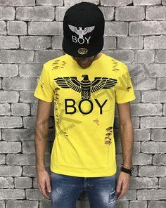 T-SHIRT BOY LONDON GIALLA UOMO ART.BL686-YEL Boy London, Street Style, Boys, Mens Tops, T Shirt, Shopping, Art, Fashion, Baby Boys