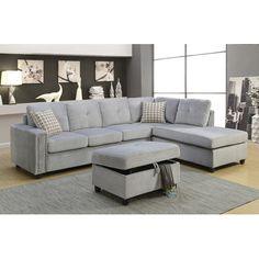 Found it at Wayfair - Belville Reversible Chaise Sectional
