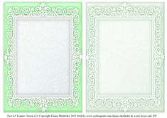 Green 2 Lace Frames 2 x A5 on Craftsuprint - Add To Basket!