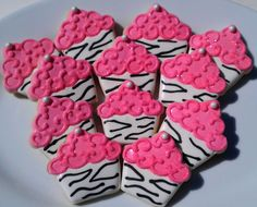 hot pink Zebra cookies OH my I should make these??