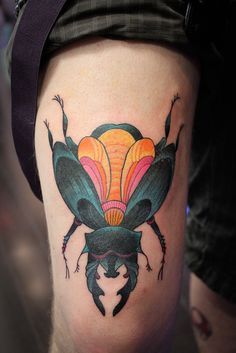 BEETLE LOVE, Done by Madame Tattoo, www.madametattoo.com.