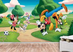 10 % off  Mickey Mouse Wall mural Wallpaper Wall décor by KIINOO