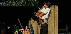 Pin for Later: 23 Shirtless Zac Efron GIFs to Get You All Hot and Bothered For Mike and Dave Need Wedding Dates Efron first graces us with his pecs in 2009's 17 Again.